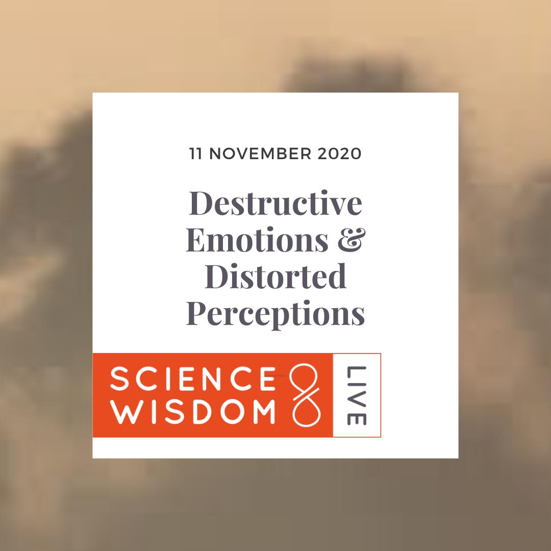 Science & Wisdom Live Destructive Emotions & Disturbing Perceptions November 11, 2020