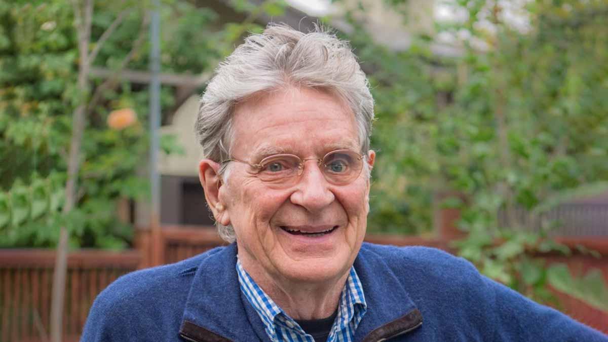 Doctor Robert Thurman, Professor of Tibetan Studies casual closeup portrait headshot