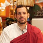Scott Tusa, meditation teacher and former Tibetan Buddhist monk guiding meditation
