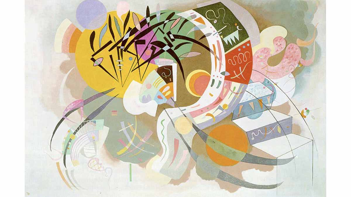 Dominant Curve painting by Wassily Kandinsky, 1936, public domain