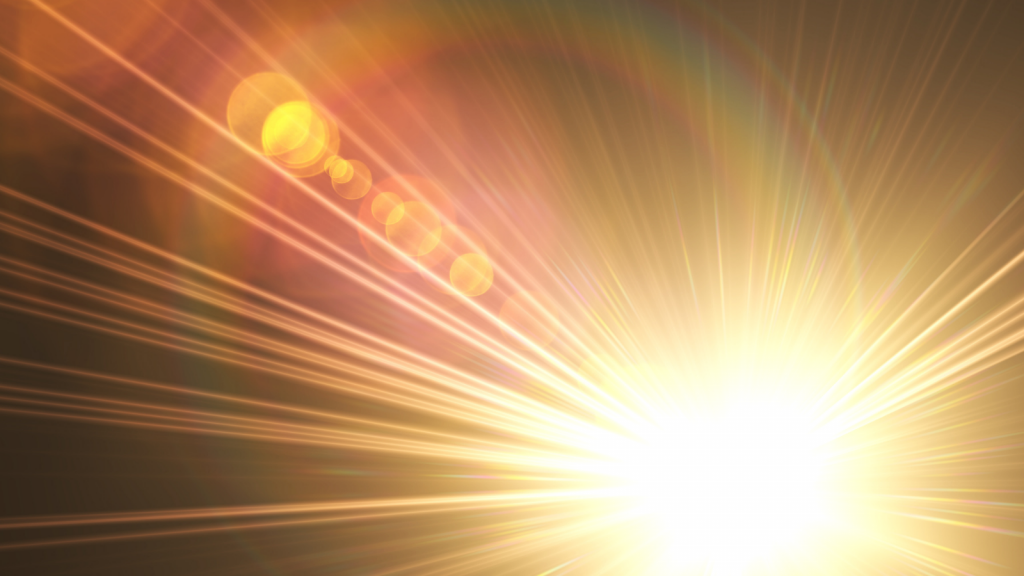 Visualization of light in our meditation of four foundations of mindfulness