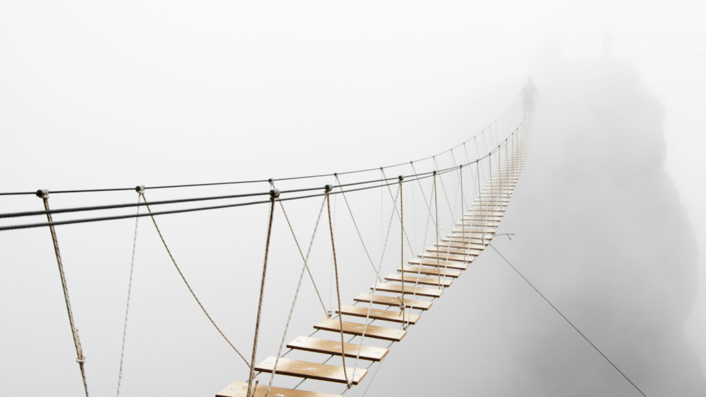 This foggy bridge where you go off into the unfamiliar represents fearlessness.