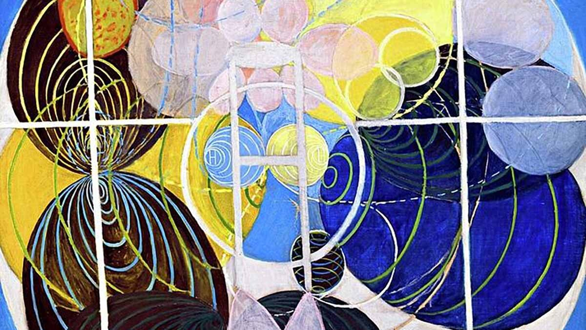 Photo by Hilma af Klint representing the four levels of happiness in Buddhism