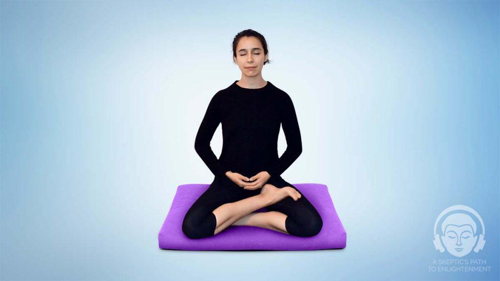 half lotus meditation position