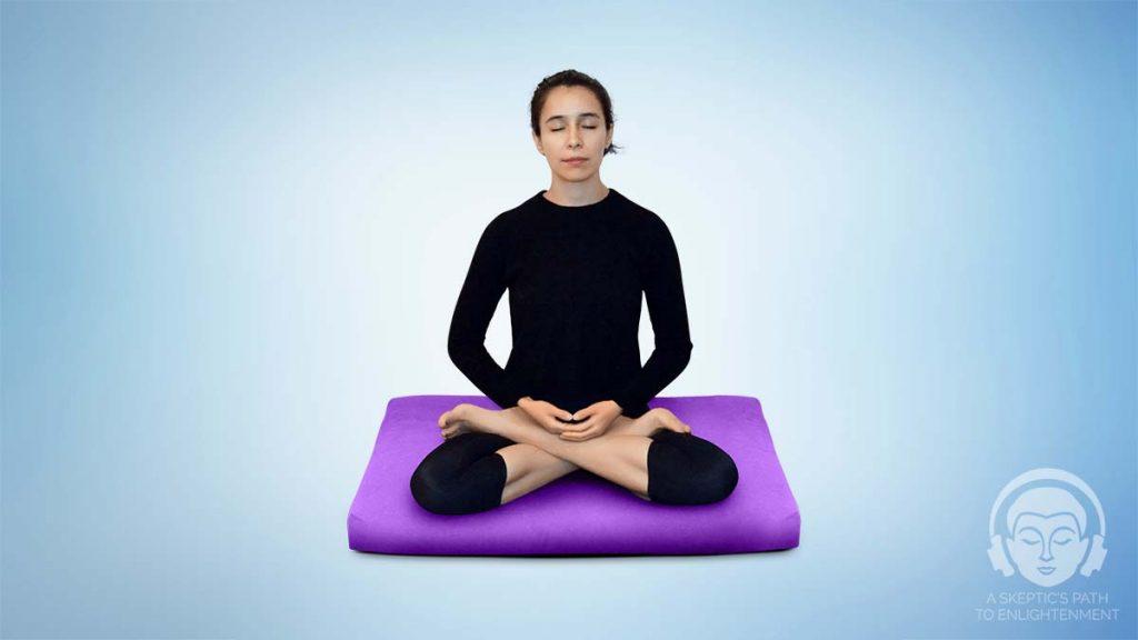 full lotus meditation position