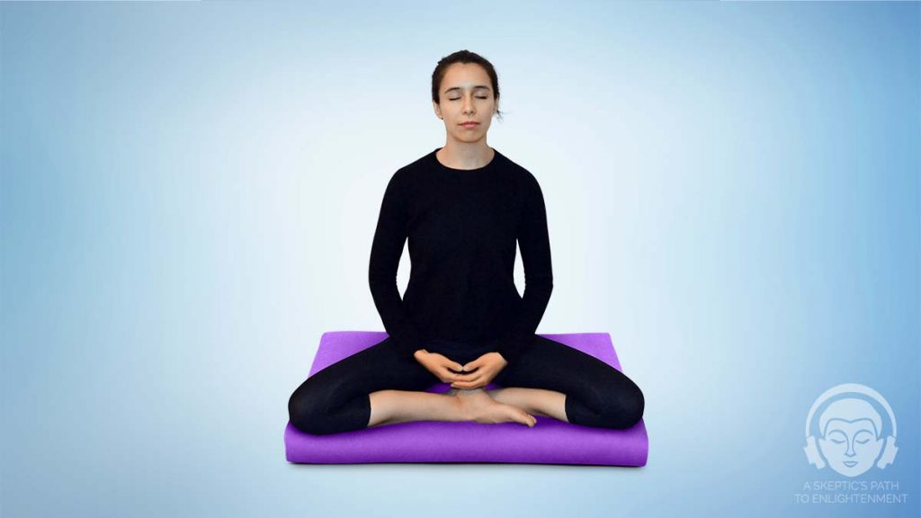 Burmese Meditation posture