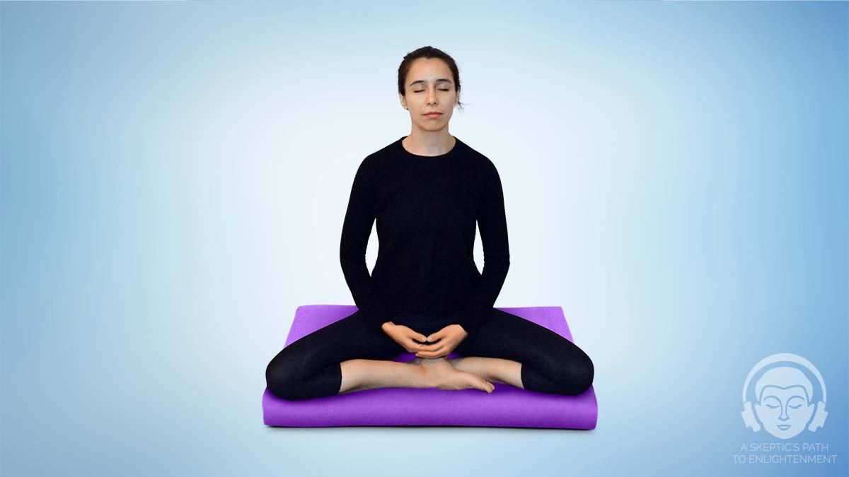 burmese meditation pose