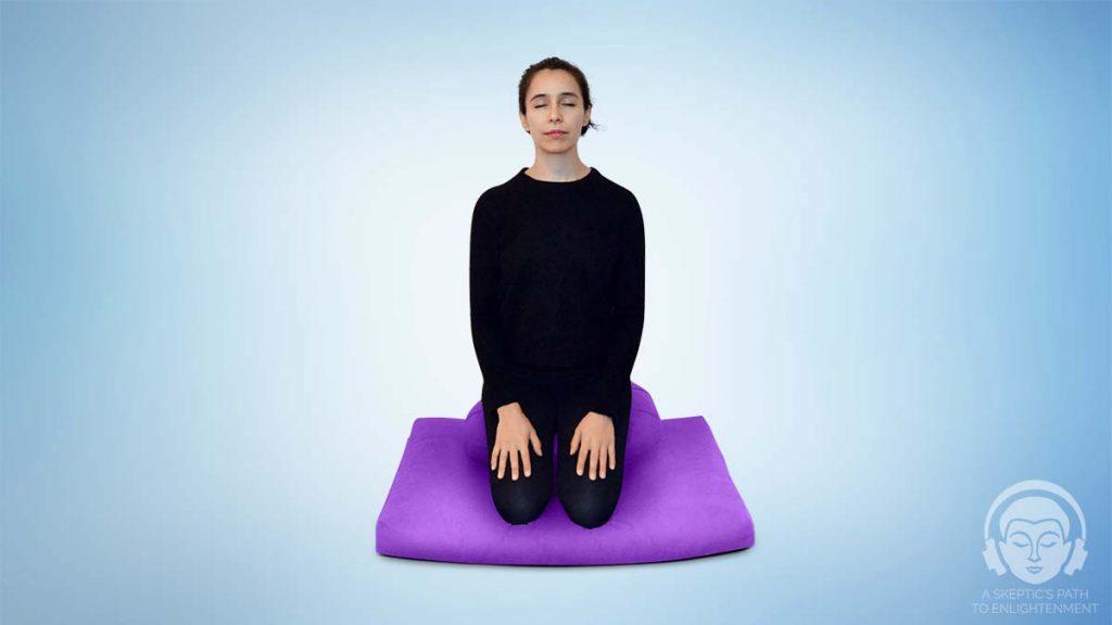 seiza meditation pose