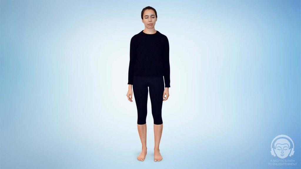 Standing meditation position